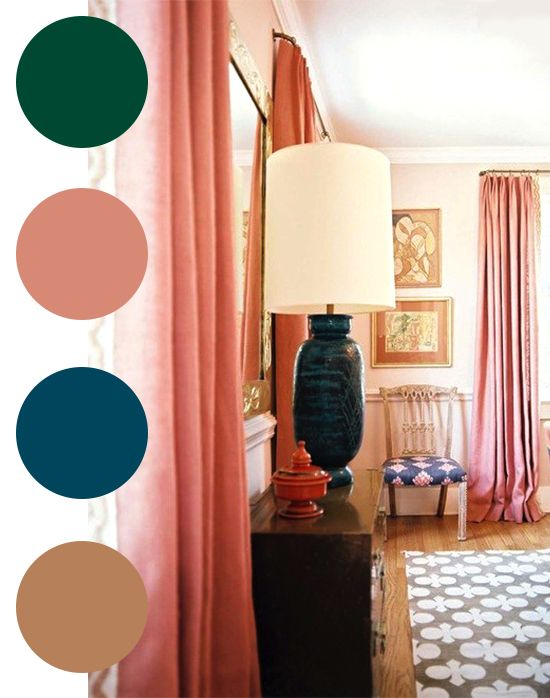 Coco Kelley Color Palette Green Salmon Teal Sand