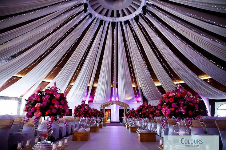 Wedding decoration at Copthorne Effingham, Gatwick - Asian Wedding Photography by Colours Photo and Film