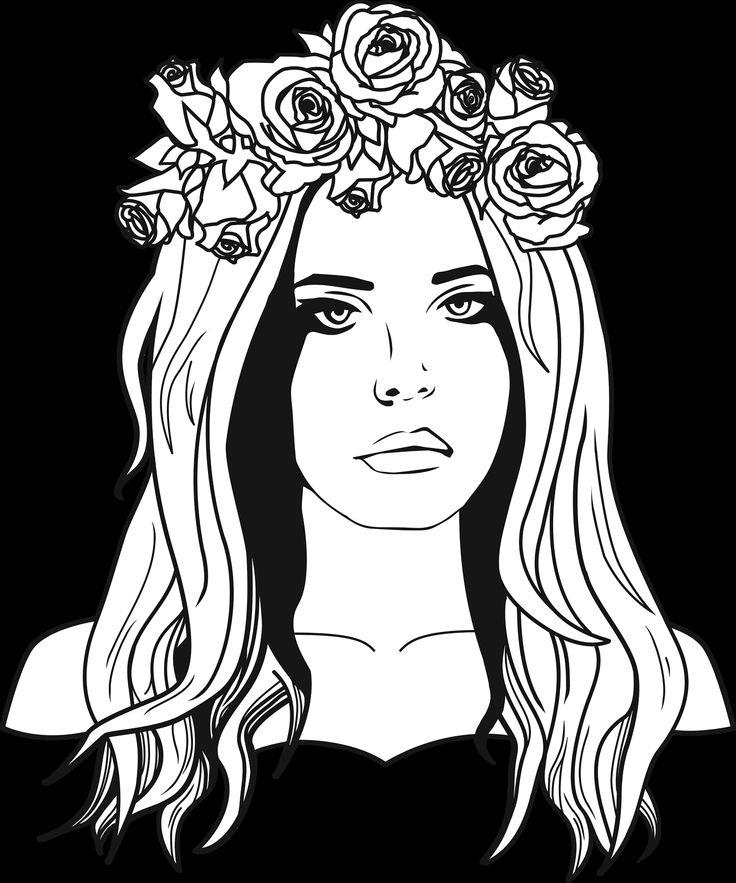 Plus de 1000 id es propos de pintura e desenho sur for Lana del rey coloring pages