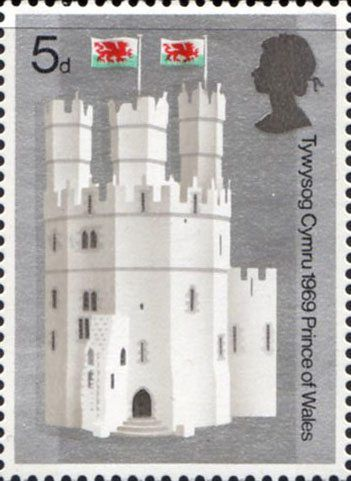 British Cathedrals  First Day Cover British Cathedrals - (1969) British Architecture (Cathedrals) British Architecture (Cathedrals)    Investure of H.R.H. The Prince of Wales  1969 (July 1 1969)  Commemorative