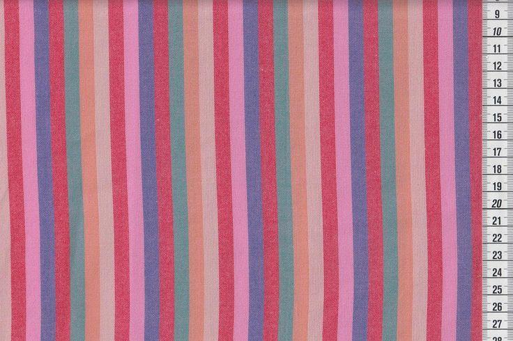 Stoff Streifen - WESTFALENSTOFFE Indian Summer Streifen hell - ein Designerstück von kleinkariert-stoffversand bei DaWanda