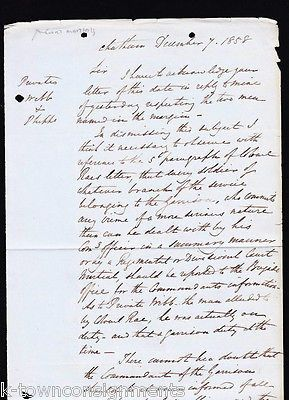 MAJOR GENERAL EYRE NOTTINGHAM SHERIFF ROYAL NAVY COURTS-MARTIAL LETTER 1895