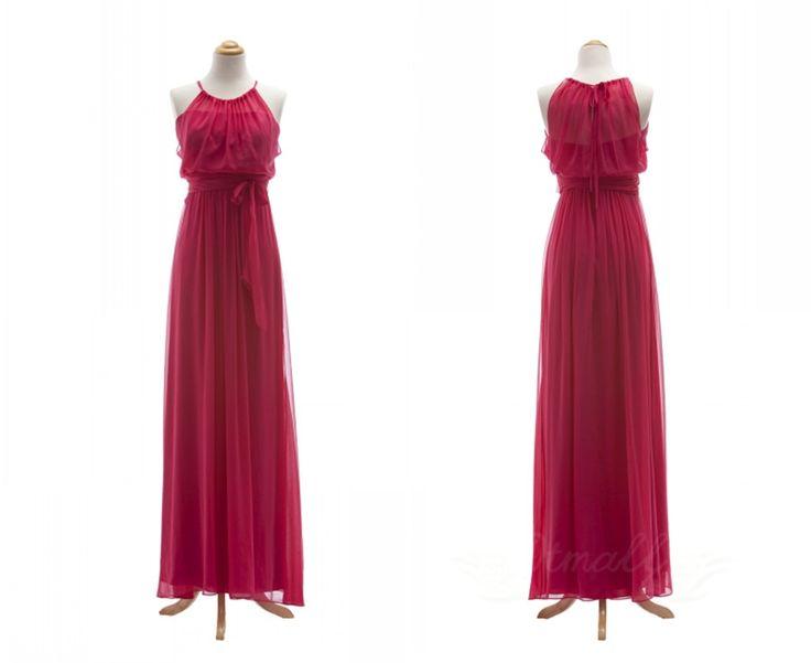 Hang A Neck Chiffon Bridesmaid Dress Long Prom Dress Spd017 on Luulla