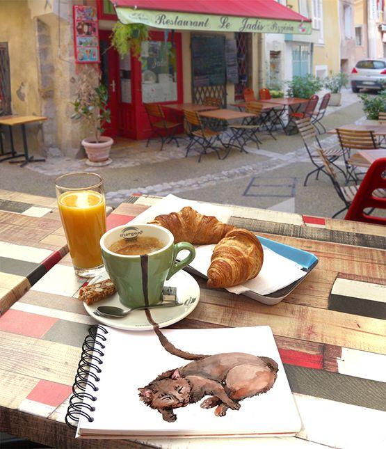 coffee cat sketchbook