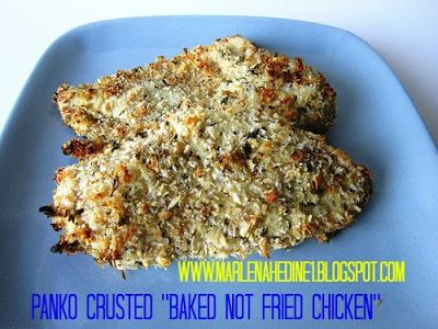 """Panko Crusted """"BAKED NOT FRIED"""" Chicken Dinner with Dijon Sauce. A ..."""