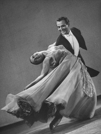 Frank Veloz and Yolanda Casazza, Husband and Wife, Top U.S. Ballroom Dance Team Performing  Photographic Print  by Gjon Mili