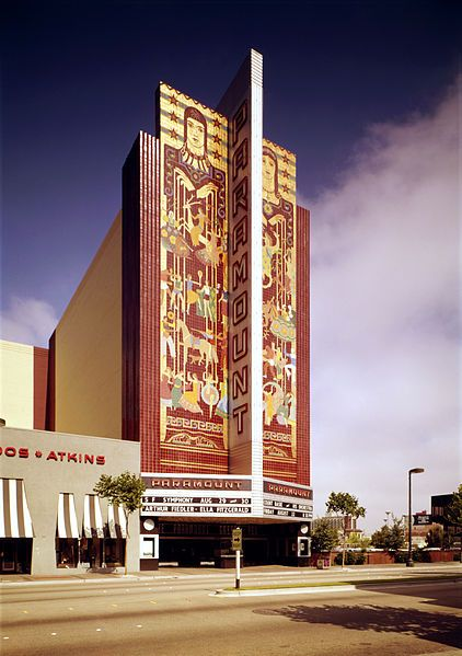 Paramount Theater in Oakland, CA is a Historical Landmark & on the National Register of Historic Places in the US. It was one of the first Depression-era buildings to incorporate and integrate the successful orchestration of various artistic disciplines into an original and harmonious whole. It was built in 1930 and was painstakingly restored in 1973.