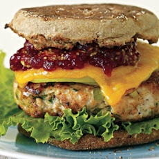 A cache of turkey burger recipes, including Turkey Apple Burgers (apples, celery, onion, and poultry seasoning) and (what are allegedly) Oprah's Favorite Turkey Burgers (apples, scallions, celery, parsley, and chutney).  (So many parentheses.)