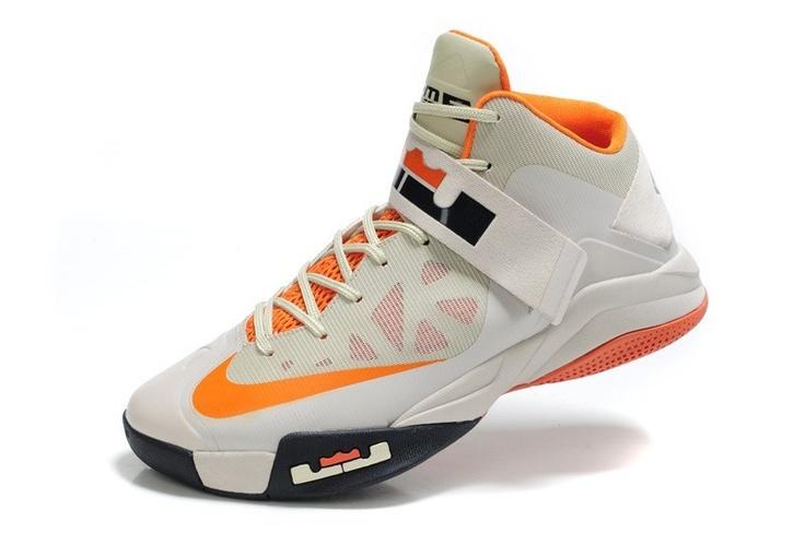 Find Quality Nike Zoom Lebron Soldier 6 White/Light Grey-Team Orange Super  Deals and prefer