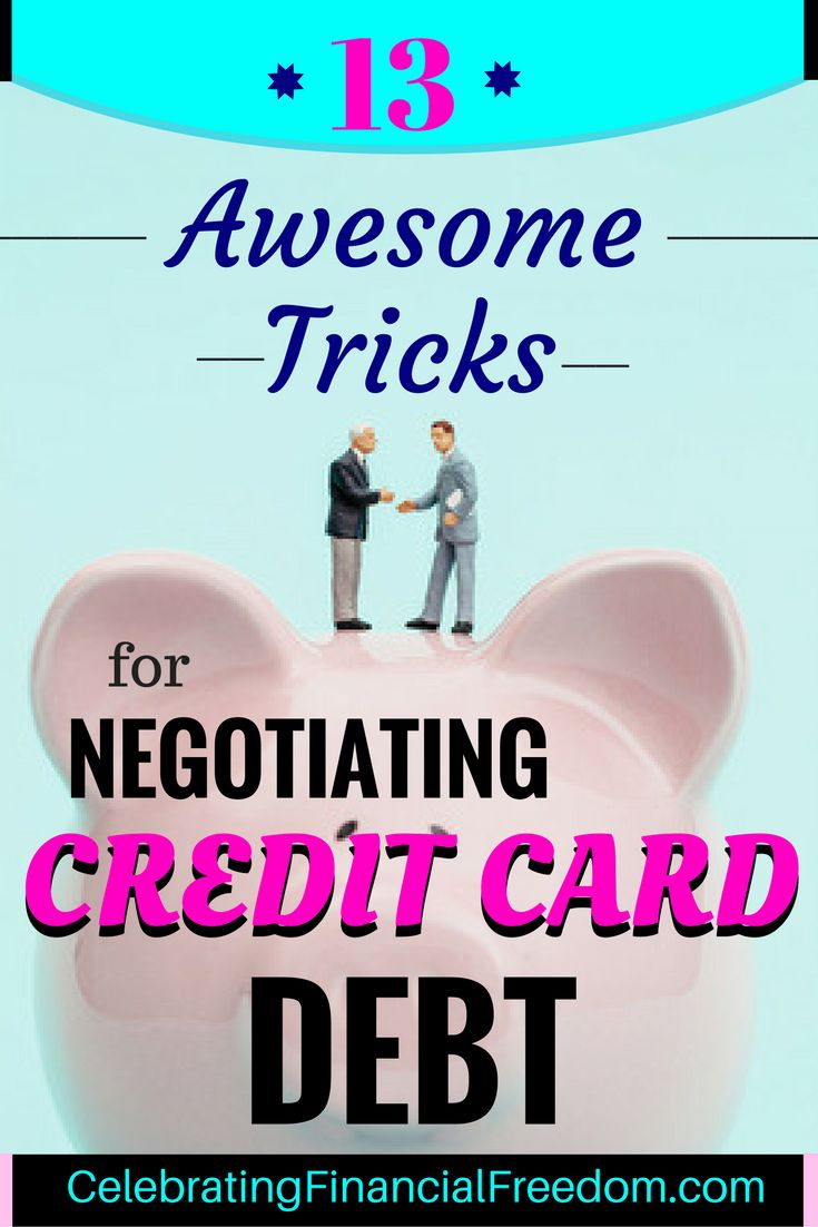 Did you know you can negotiate better terms on your credit card debt?  If you'…