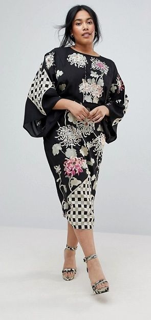 Plus Size Kimono Dress #Plussize