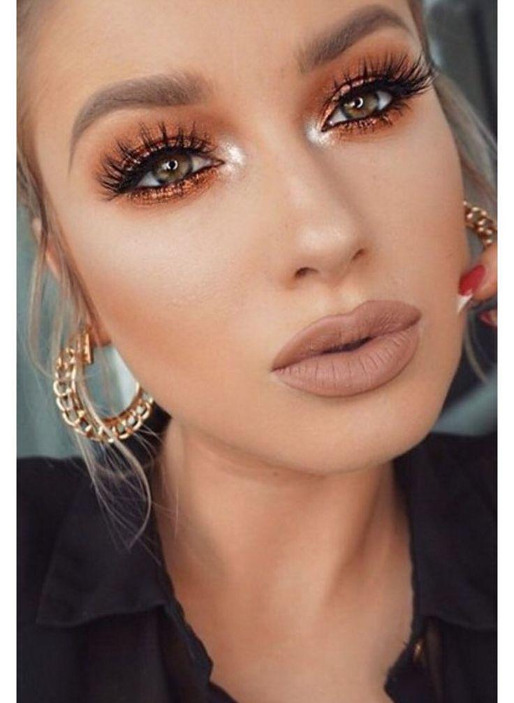 Makeup for green eyes, light skin