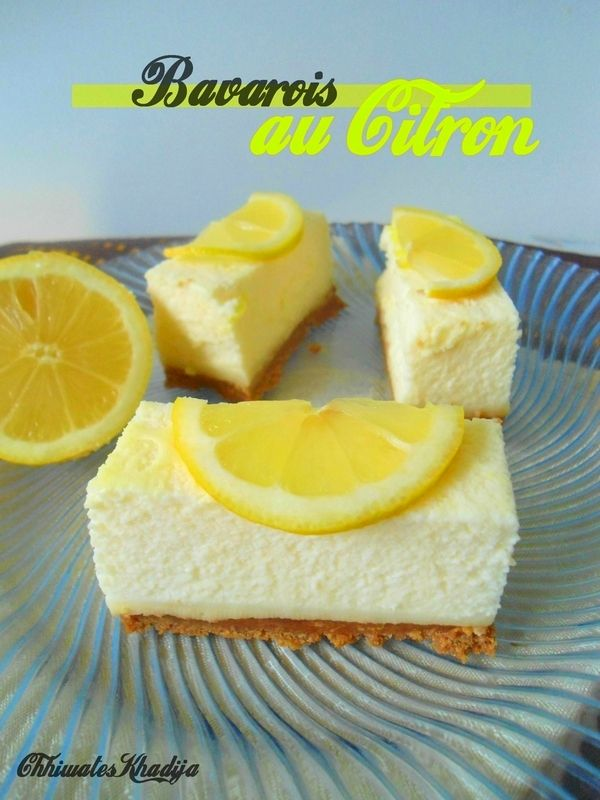 Bavarois citron