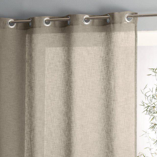 rideaux voilages la redoute rideau pur lin plis flamands lincoln ampm la redoute mobile with. Black Bedroom Furniture Sets. Home Design Ideas