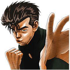 大人気コミック「ろくでなしBLUES」がLINEスタンプに登場。男気あふれるスタンプで、アツいトークを楽しもう!