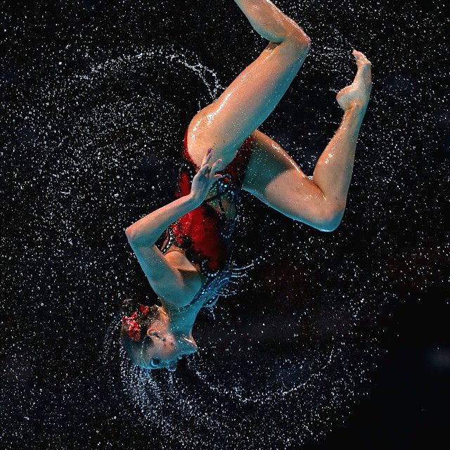 Athlete and artist. #synchronizedswimming (C)GettyImages