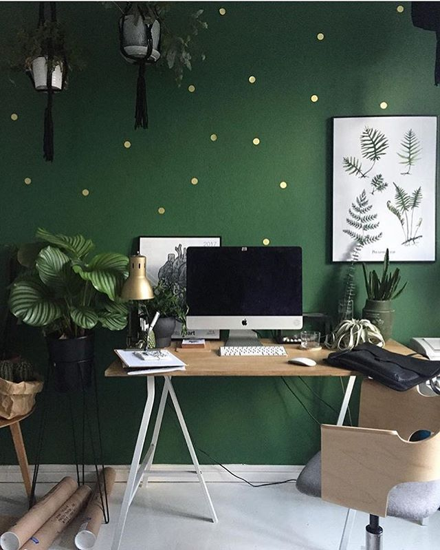 @margo.hupert.art's #workspace is definitely worthy of @pantone's new color of the year, #Greenery. We'd love to see what YOUR workspace looks like! Share it with #DMcreativespaces and we'll post our favorites here.