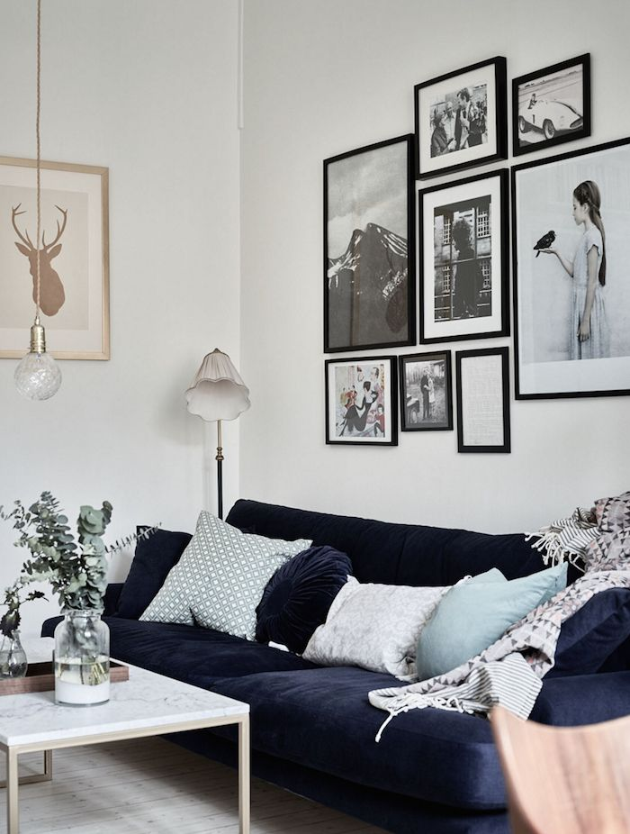 gallery wall | swedish apartment