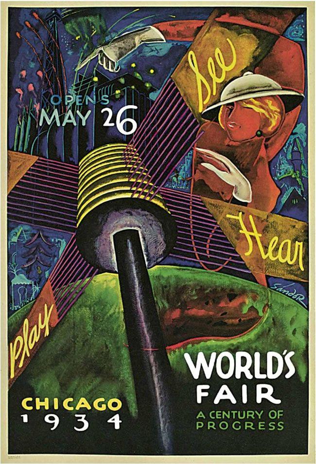 Vintage Travel Postcards: 1934 Chicago World's Fair