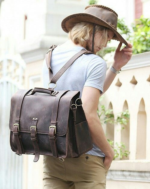 Top grade leather briefcase, backpack. Find more info on leatherfamily.bigcartel.com.
