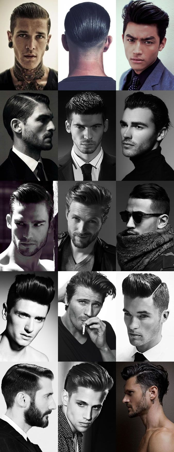 Men's Sheen, High Shine and Wet Look Hairstyles