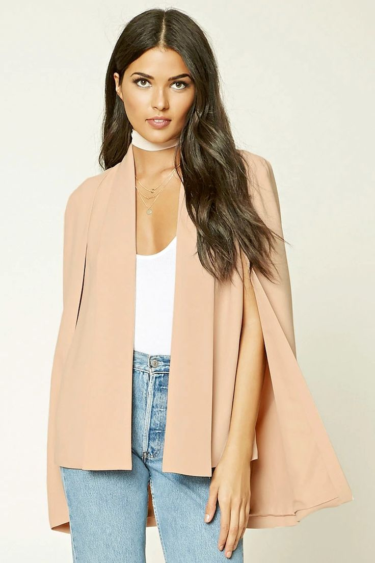 Contemporary Padded Cape Blazer