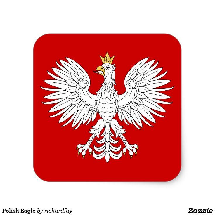 SOLD 2/26/2017 through Zazzle to a customer in Tonawanda, NY: 1 sheet of Polish Eagle Stickers (Round Large). #zazzle #sold #stickers #Polish_eagle #heraldic_eagle #white_eagle #eagle