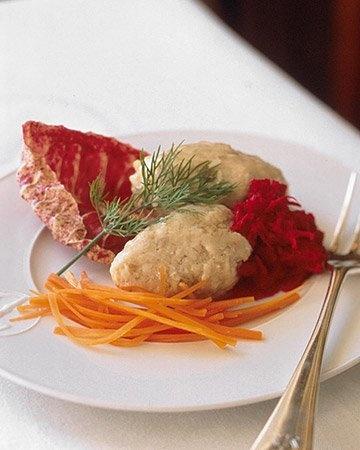 Gefilte Fish with Fresh Beet Horseradish Recipe