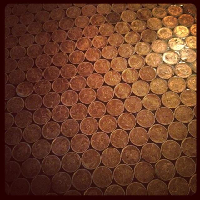 Floor made of money - Jimmy's Inn, Braamfontein, Johannesburg
