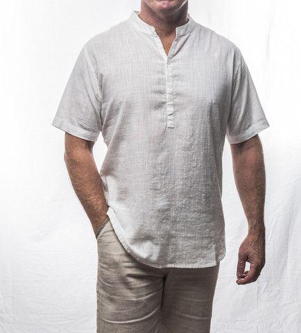 White Short Sleeve Cotton Shirt