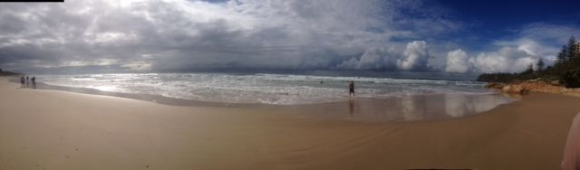 Have been trying out my Panorama shots of our local Coolum beach