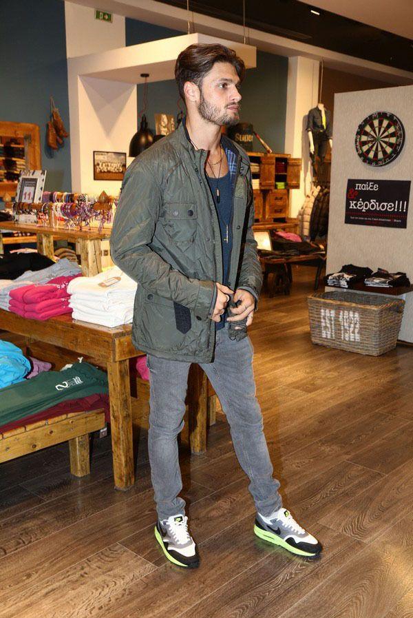 Stelios Niakaris.    #male #model #handsome #greek #man #boy #menswear #street #style #streetstyle #casual #outfit
