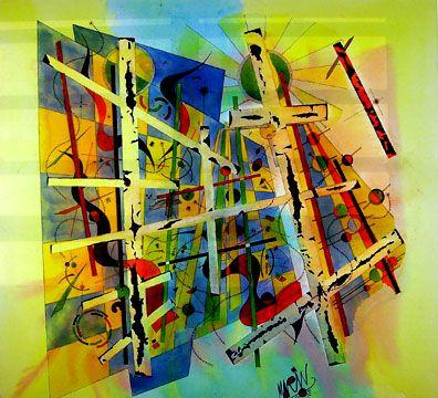 """""""caballete"""", de José Vicente Marín Lozano, pintor contemporáneo representativo del constructivismo."""