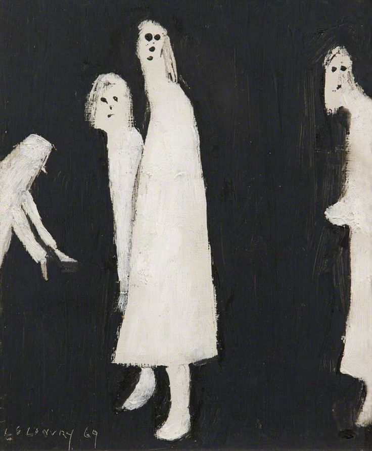 """""""The Haunt"""" by L S Lowry, 1969 (oil on board)"""