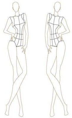 Female Fashion Croquis Templates | Female Fashion Figure 046