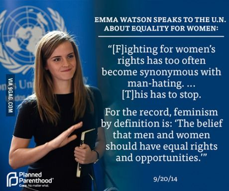 """Restoring the internet: """"political, economic and social equality of the sexes"""" - Emma Watson"""