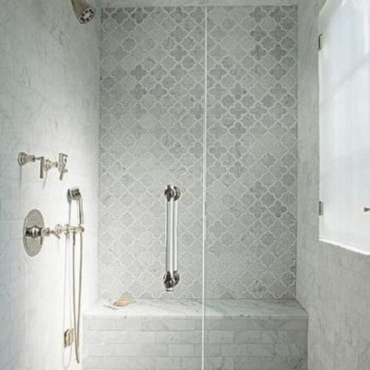 53 Inspiring Farmhouse Shower Tile Remodel Ideas