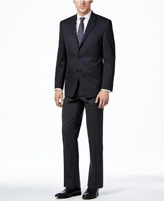 Alfani Men's Traveler Charcoal Solid Classic-Fit Suit Separates, Only at Macy's - Suits & Suit Separates - Men - Macy's