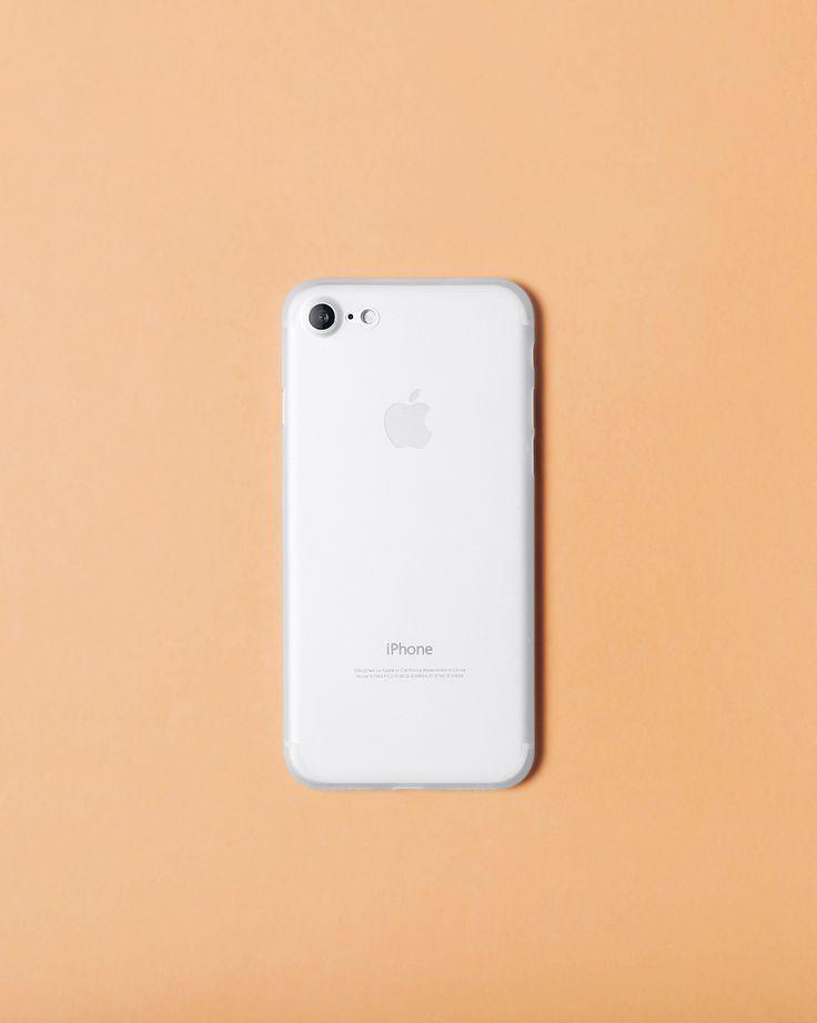 Nudient Transparent white slim case for iPhone 7