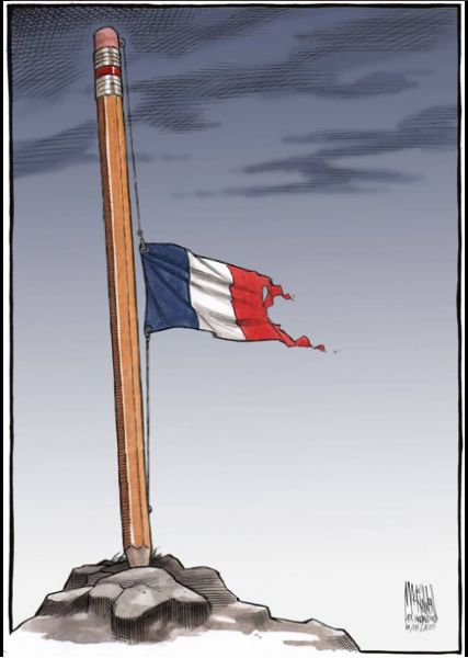 les-illustrateurs-du-monde-entier-rendent-hommage-au-journal/Bruce-A-McCoubrey-illustrateur-americain #jesuischarlie #CharlieHebdo