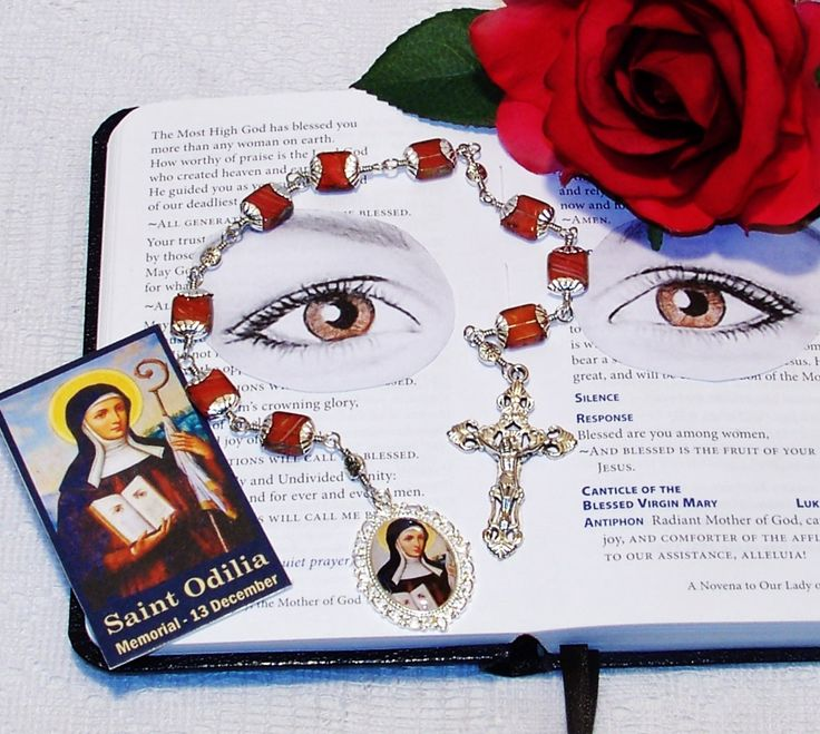 Unbreakable Chaplet of St. Odilia of Alsace - Patron Saint of Blind People and Against Eye Diseases / Eye Problems by foodforthesoul on Etsy