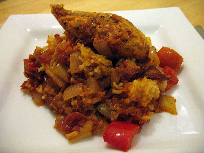 Slow Cooked Chicken Pilaf with Sun-dried Tomatoes