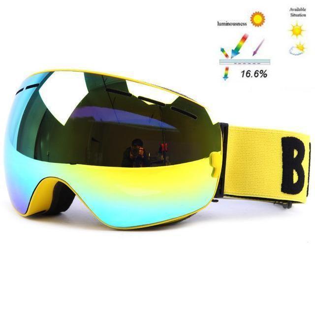 Ski Goggles DoubleLayers UV400 Anti-fog Big Ski mirror lens Glasses Skiing Snow