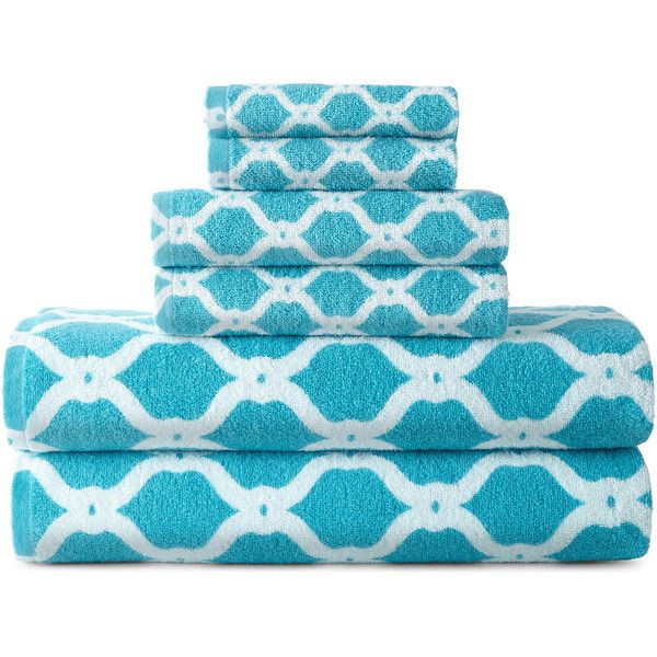 Jcpenney Decorative Bath Towels : Jcpenney home ogee trellis bath towel collection
