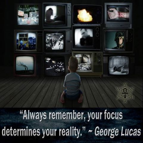 """""""Always remember, your focus determines your reality."""" ~ George Lucas"""