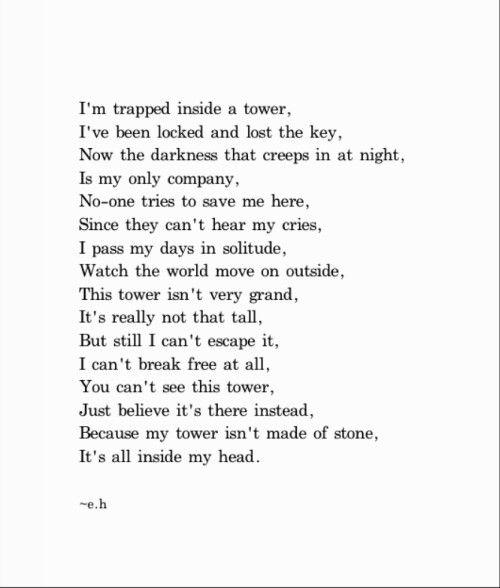 In my head. Erin Hanson poem