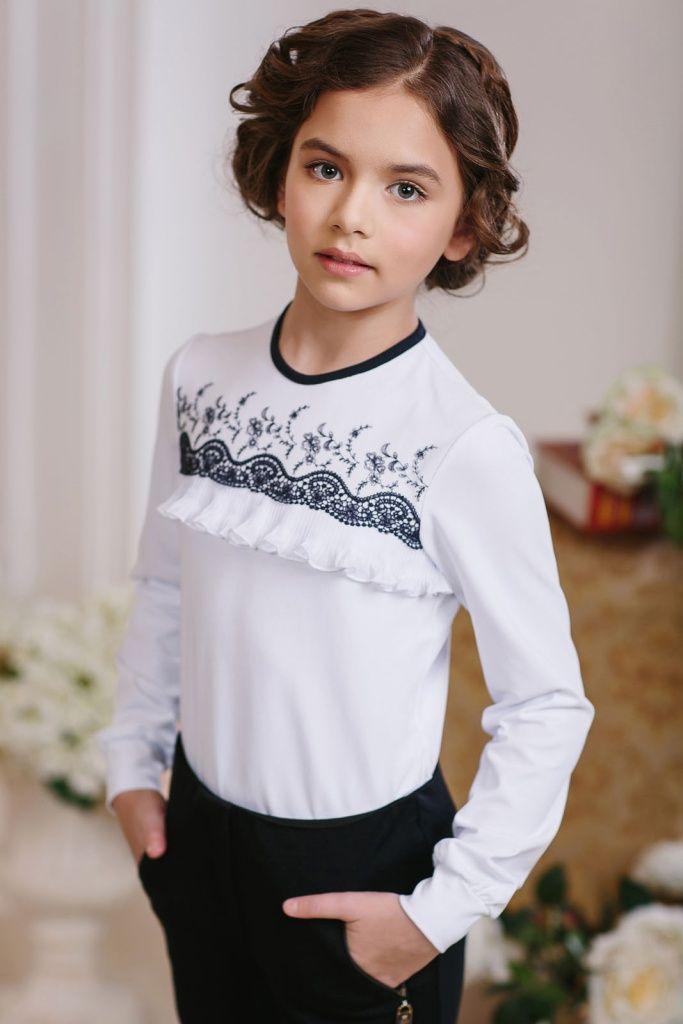 Школьная блузка для девочки арт. 163644