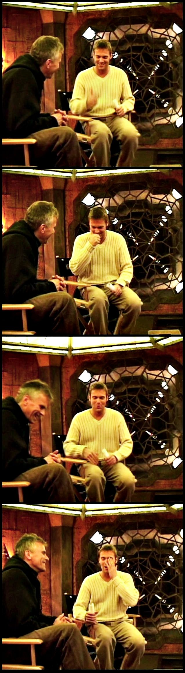 "Rick and Michael during a behind the scenes interview for ""Abyss"""