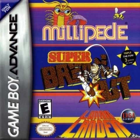 Millipede / Super Breakout / Lunar Lander - Game Boy Advance Game