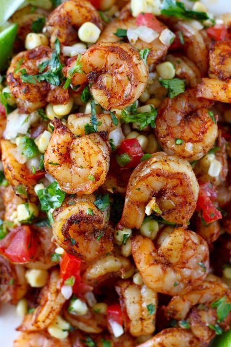 Mexican Grilled Shrimp with Fresh Corn Salsa